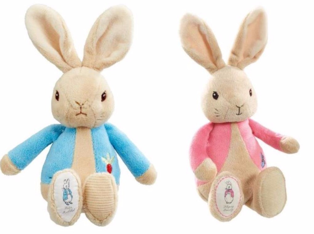27cm Peter Rabbit Lily Pink Bunny Girl Figures Toys Cartoon Movie Stuffed Plush Toy Doll Kid Children Birthday Party Gift