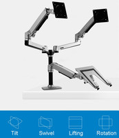 Desktop Full Motion 17 32inch Dual Monitor Holder Mount Arm +10 15.6inch Laptop Support Mechanical Spring Arm Max.Loading 10kgs