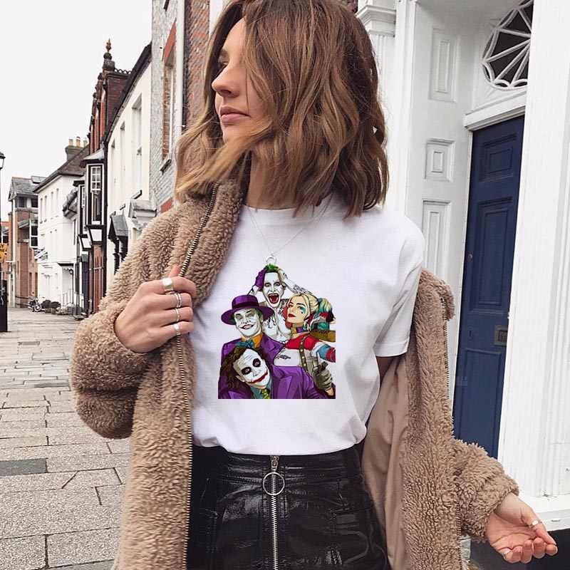 Harajuku Female T-shirt Joker Joaquin Phoenix Horror women T-Shirt Are You Smell Right Now Funny Cartoon Tshirt Fanshion Top Tee