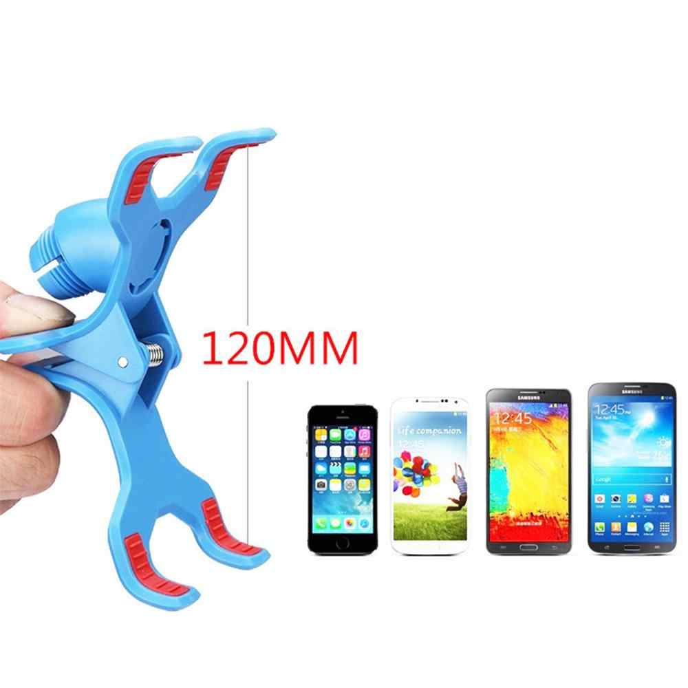 Support de Support de téléphone Flexible à deux pinces pour Support de téléphone portable
