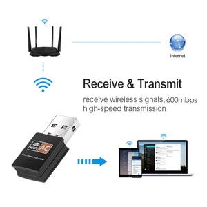 Image 5 - Kebidu antena WiFi de doble banda 600Mbps, 2,4 GHz, 5GHz, 802.11b/n/g/ac, Mini receptor de tarjeta de red de ordenador inalámbrico