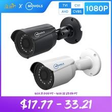 MOVOLS 1080P CCTV 카메라 2MP HD 실내 실외 방수 아날로그 소니 센서 총알 IR AHD / TVI / CVI/CVBS 감시 카메라