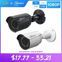 Movols 1080p câmera de cctv 2mp hd interior ao ar livre à prova danalog água analógico sony sensor bala ir ahd/tvi/cvi/cvbs câmera de vigilância