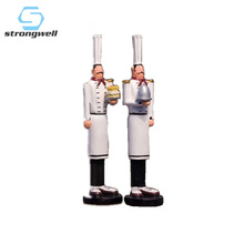 Strongwell American Style Thin & Tall Chef Decoration Home Accessories Restaurant Bar Cafe Cake Shop Shelf Display