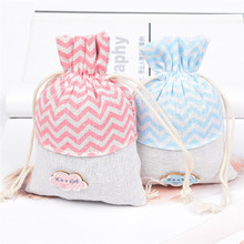 10x14cm Cotton Linen Drawstring Gifts Bags Muslin Jewelry Pouches For Wedding Christmas Lovely Candy Holders