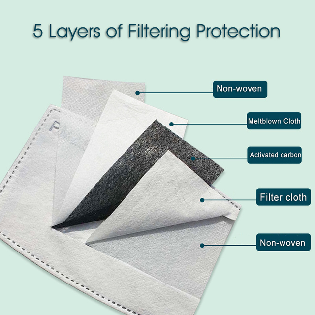 Print Mouth Mask Washable Cotton PM2.5 Filter Mask Anti Dust Face Mask Reusable Mouth-muffle Bacteria Proof Flu Adult Mask 5