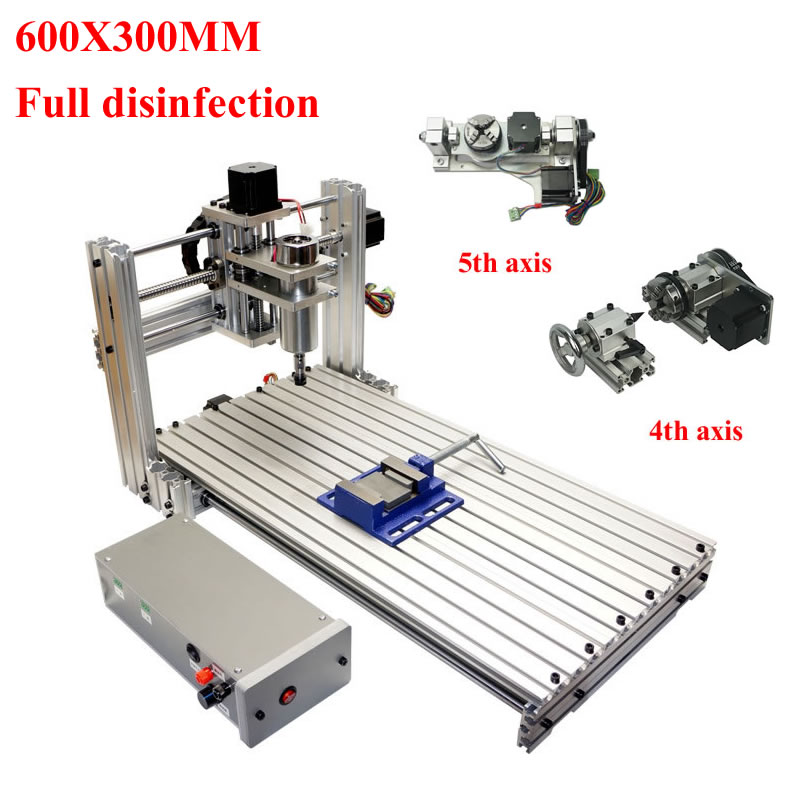 CNC 5th Axis Engraving Milling Router Machine 3axis 4axis Mach3 Controller With Full Cnc Kits For Wood Aluminum Metal Plastic