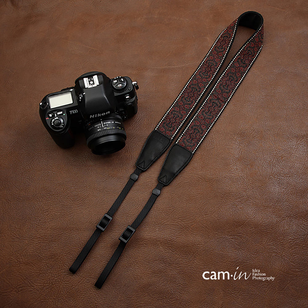 1 Vintage Retro Style Camera Shoulder Neck Strap Camera Strap with D Rings X2