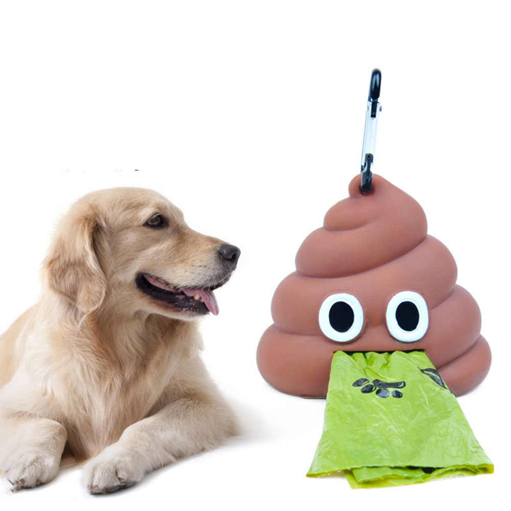 Dog Poop Bag Dispenser Funny Shape Waste Bag Holder Storage Box Puppy Portable Eco-friendly Garbage Bags Dispenser Pet Supplies 7