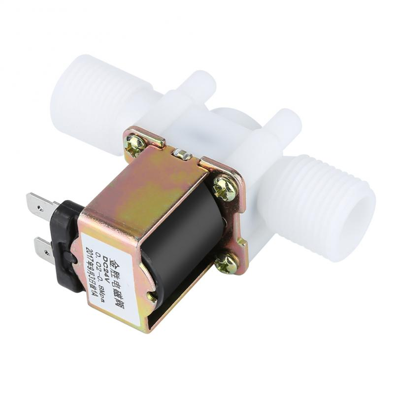 "1/2"" Plastic Solenoid Valve 12V 24V Magnetic Washing Machine Dispenser Drinking Water Pneumatic Pressure Controller Switch"