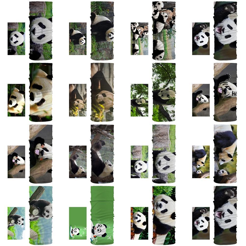 New Dustproof Scarf Scarves Cute And Cute Panda Pattern Unisex Magic Tube Scarf Fashion Breathable Trend Sports Bandana