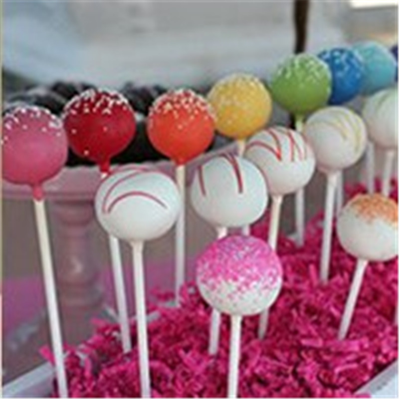 100/package Lollipop Cake Paper Stick White Solid Sugar Process Mold Baking DIY Abrasives Biodegradable Popular Paper Stick