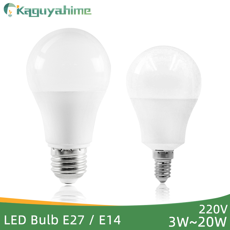 Kaguyahime LED E27 LED Light E14 LED Bulb AC 220V 240V 20W 15W 12W 9W 6W 3W LED Spotlight Table Lamp Bombilla Lighting Lampada