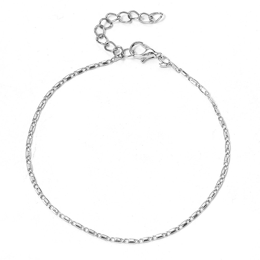 Women Simple Gold Chain Anklet Bracelet Barefoot Sandal Beach Foot Jewelry Bohemian Silver Color Chain Ankle Bracelet on The Leg 1