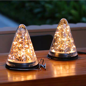 1/2/3 sztuk 40LED solarne lampy LED w kształcie stożka lampy wiszące na zewnątrz wodoodporny IP65 na podwórku domu świąteczne dekoracje tętnienia lampa ogrodowa
