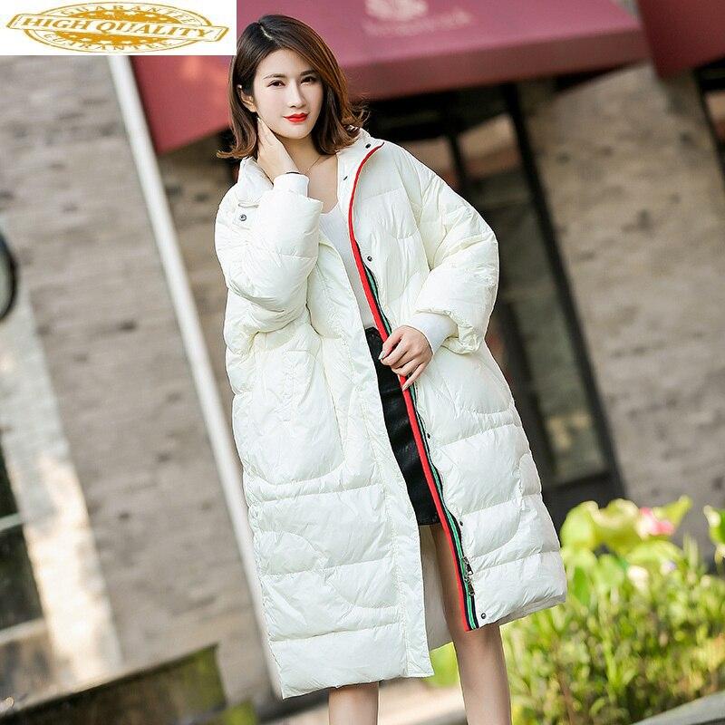 Jackets Woman Winter 2019 Casual Loose Long Coat White Duck Down Jacket Women New Parkas Casacas Para Mujer KJ479