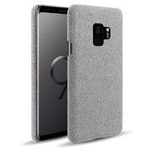 Funda de tela dura para Samsung S9, funda delgada Retro de tela para teléfono Samsung Galaxy S8 S8/S9 Plus, Galaxy S9 S9 + Coque Capa