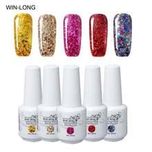 Гель лак для ногтей win long блестящий цвет s 8 мл отмачиваемый