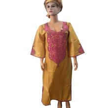 MD 2019 bazin riche dresses for women traditional african dashiki embroidery long dress south africa lady clothes