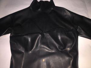 Image 4 - Latex Volledige Dekking Bodysuit Met Sokken En Handschoenen En Afneembare Paardenstaart Kap Inclusief Korset
