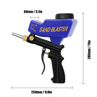 Black/Blue Sand Blaster Spray polishing Adjustable Remover Small Aluminum Nozzles Tools Workshop