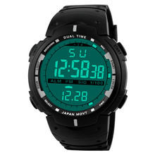Sport Watches 2019 Men Watch Waterproof LED Digital Watch Male Clock LED Digital Date Military Sport Rubber Quartz Watch Y12 23 cheap DISU Buckle 3Bar Alloy 22 5cm Resin 14 5mm 17 88mm ROUND No package XYQ60826122 Silicone None 20mm Fashion Faux Leather