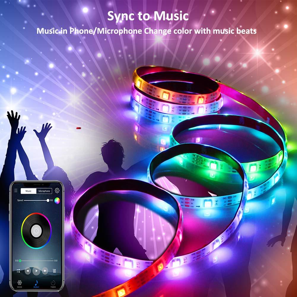 Ha05d7cb6ba0b4bc8a55275f86d6a83bfv RGB Tape Bluetooth USB LED Strip TV Background Flexible Neon Ribbon tira Lamp 5V 0.5M SMD 5050 RF Controller LED RGB Strip Light