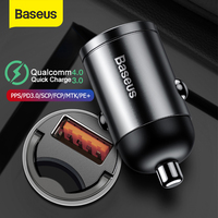 Baseus 30W Quick Car Charger QC4.0 PPS Fast Charging for Xiaomi Samsung Phone Auto USB Type C Socket Adapter Charge|Power Adapter| |  -