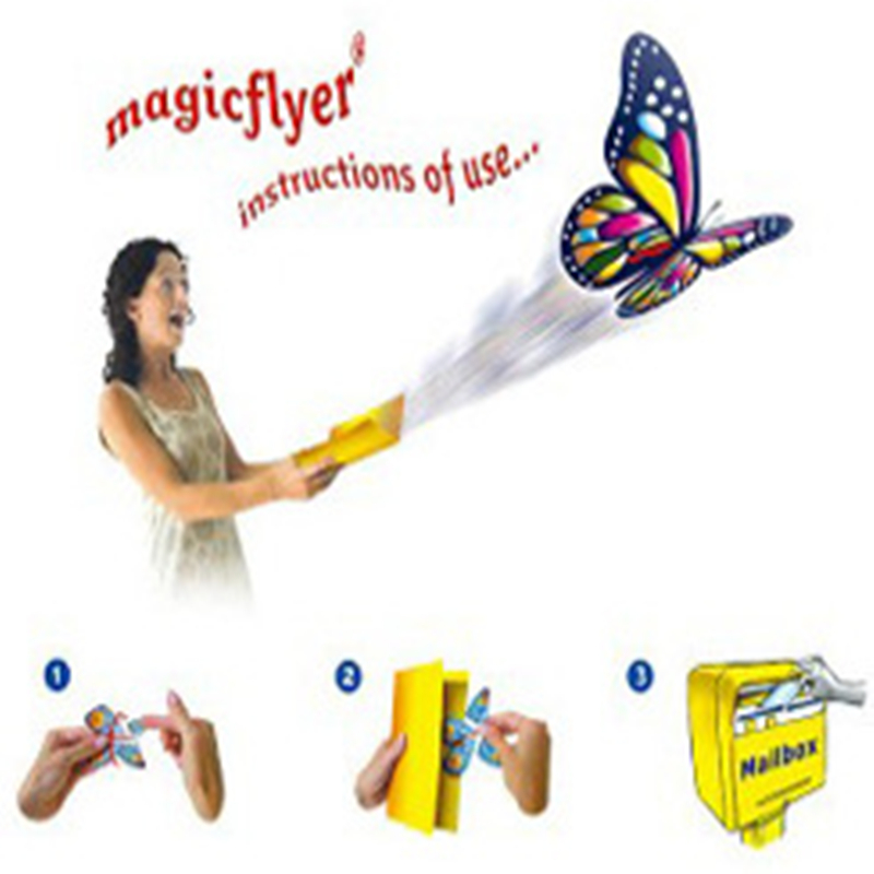 Huilong Flying Butterfly Steel Frame Magic Props Toys Magic Flying Butterly Fun Prank Toys For Children Shocker
