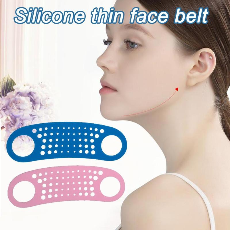 Silicone Face Lift Belt Double Chin Face Slim Lift Up Anti Wrinkle Mask Band V Face Line Belt Women Thin Facail Beauty Tool