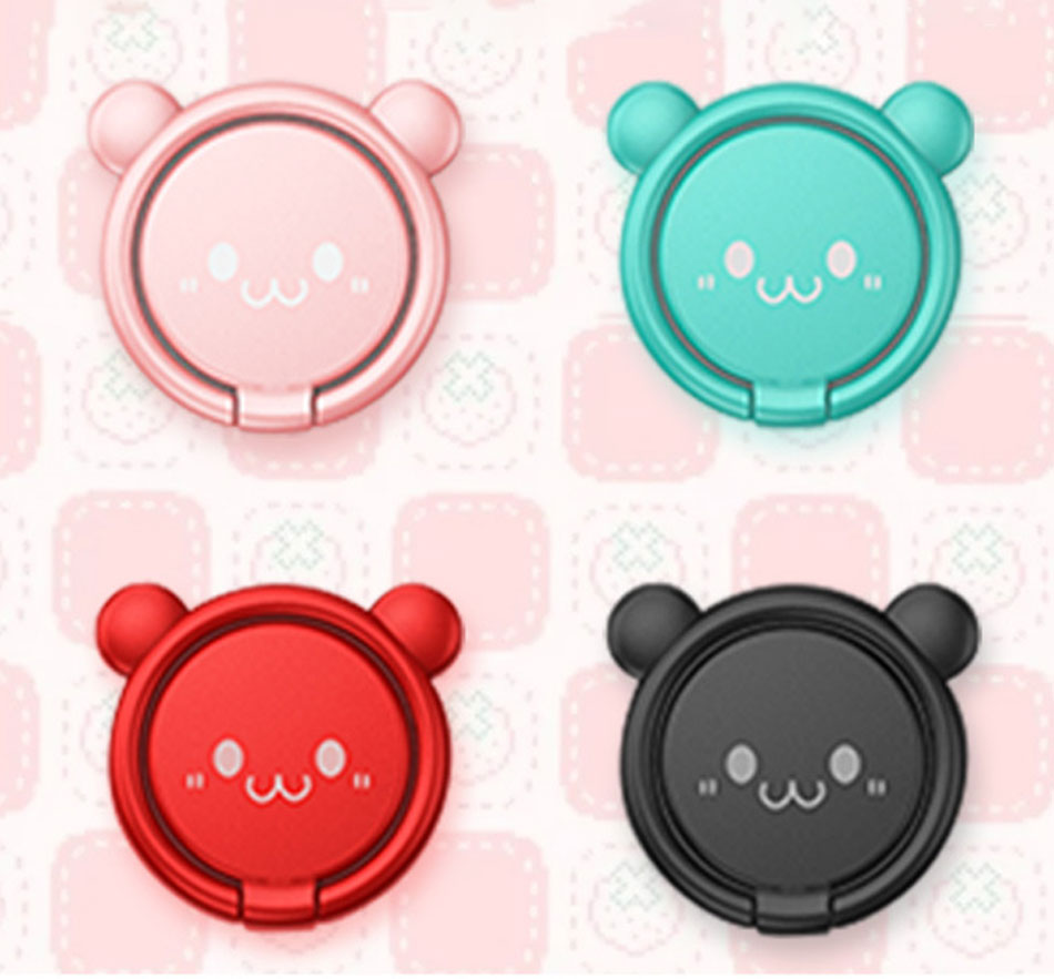 Cute Cartoon Mobile phone grip bracket phone expanding stand phone finger ring holder for phones for iphone x xs 8 xiaomi redmi in Phone Holders Stands from Cellphones Telecommunications