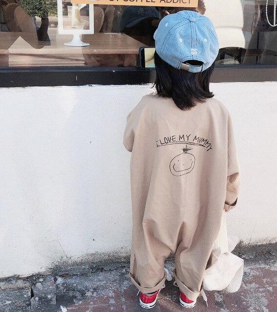 الفتيان والفتيات القطن مع عودة طباعة بذلة طفل الاطفال طويلة الأكمام عادية الرضع تسلق الملابس ليتل الأطفال السروال القصير