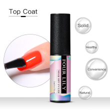 FOUR LILY Top Coat 5ml Crystal Clear Nail Art Lacquer Soak Off Gel Polish Long Lasting Manicure Varnish UV LED Vernis
