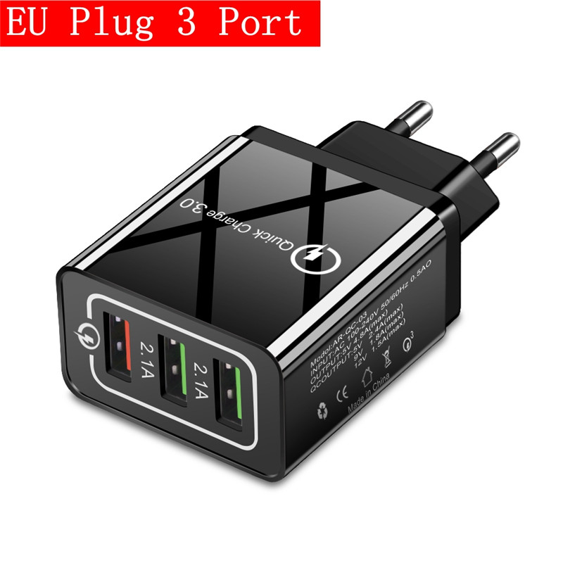 3 Port EU Black