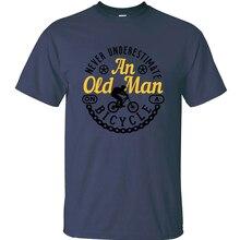 Imprimir nueva moda nunca subestilizar A un viejo en una camiseta de bicicleta para adultos y chicas Vintage mens tshirts tamaño S-5xl impresionante