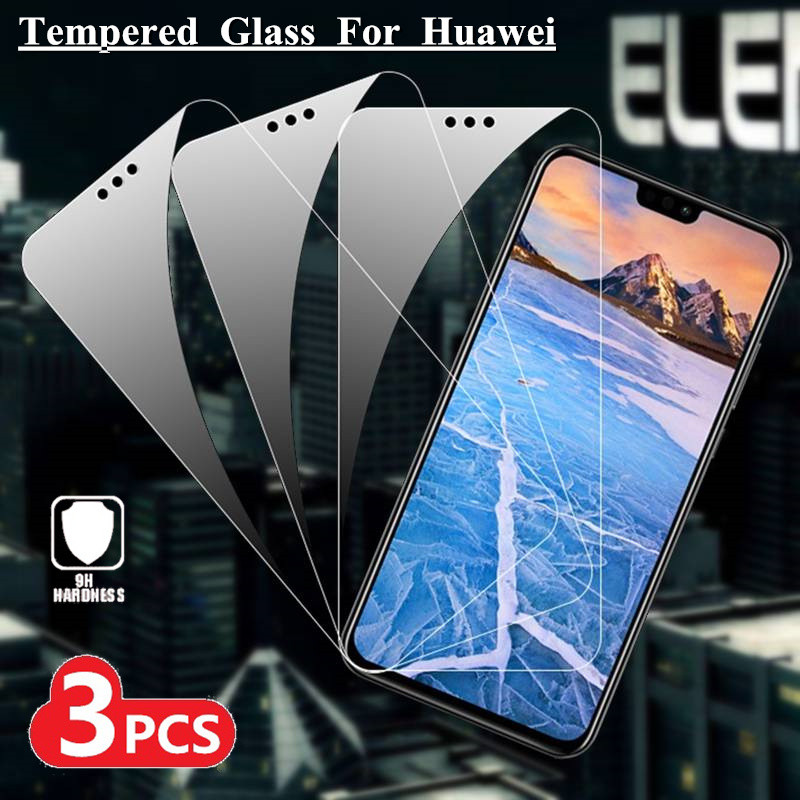 3PCS Screen Protector For Huawei P30 P20 Pro P10 Lite Glass For Huawei P10 P9 P8 Lite 2015 2016 2017 9H Tempered Film Cover