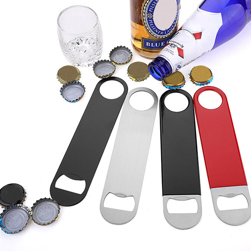 Stainless Steel Bottle Openers Large Flat Speed Beer Bottle Opener Remover Bar Blade Home Hotel Professional Beer Bottle Opener