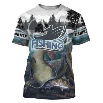 Blue catfish Fishing T Shirt All Over Print