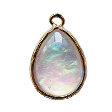 Water Drop Opal Pendant Component Tear Shaped Opal Resin Two