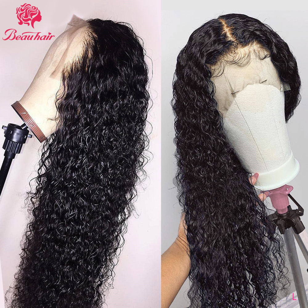 Water Wave Lace Front Wig For Women Remy Brazilian Lace Frontal Human Hair Wigs With Baby Hair Natural PrePlucked 13x4 LaceFront