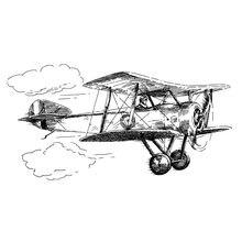 Самолет прозрачный силиконовый штамп/печать для diy скрапбукинга/фотоальбом