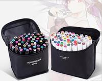 40/60/80/168 farbe Dual Kopf Kunst Marker Set Alkohol Skizze Marker Pen für Künstler Zeichnung manga Design Kunst Lieferant auf