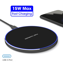 15W QI Quick Charge Fast Wireless Charger For Samsung S10 S9 10W Tpye C QC 3.0 For iPhone XS XR X 8 Huawei P30 Pro Xiaomi Mi 9
