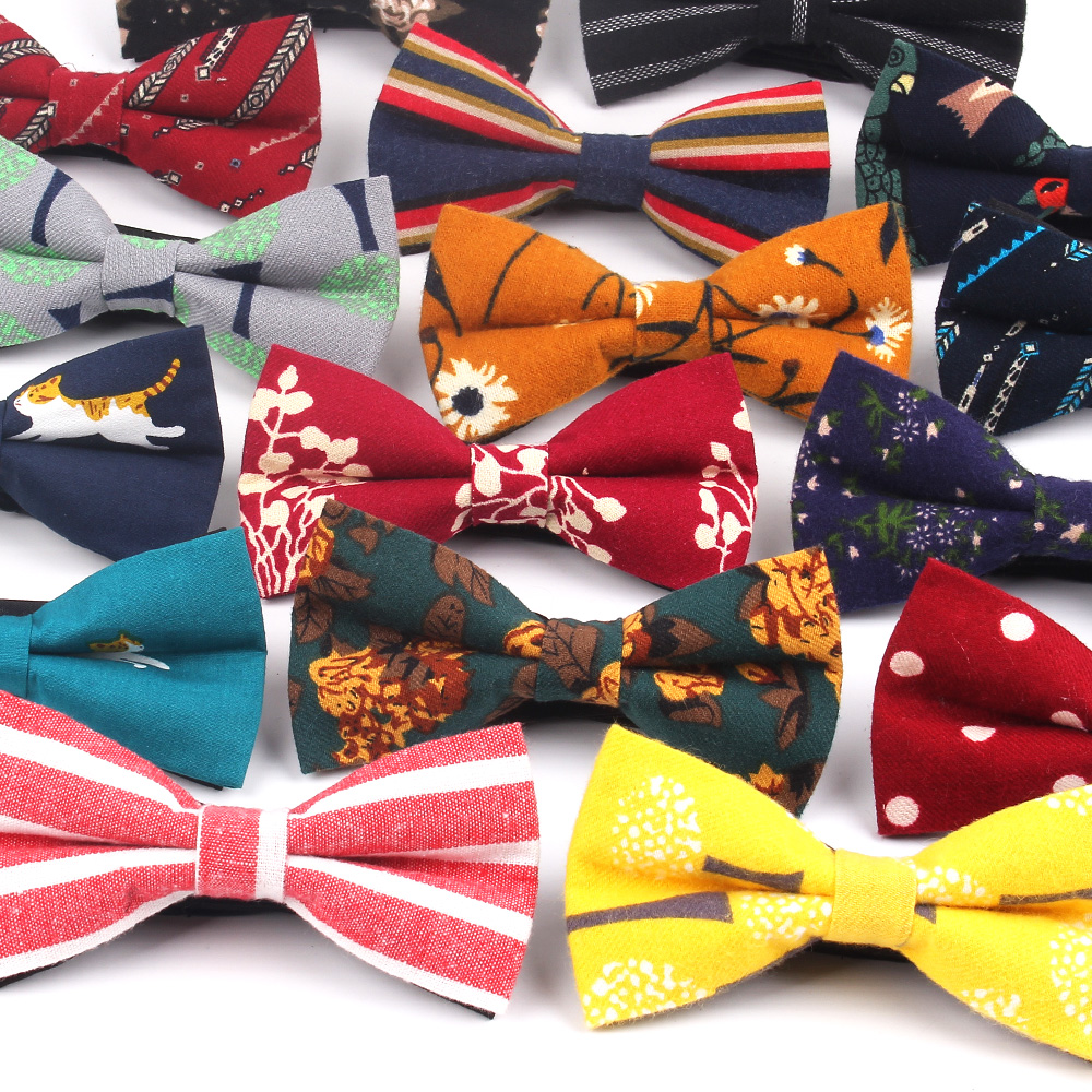 Men Bow Tie Classic Striped Bowtie For Men Women Business Wedding Adult Floral Bow Ties Butterfly Suits Cravats Bowties