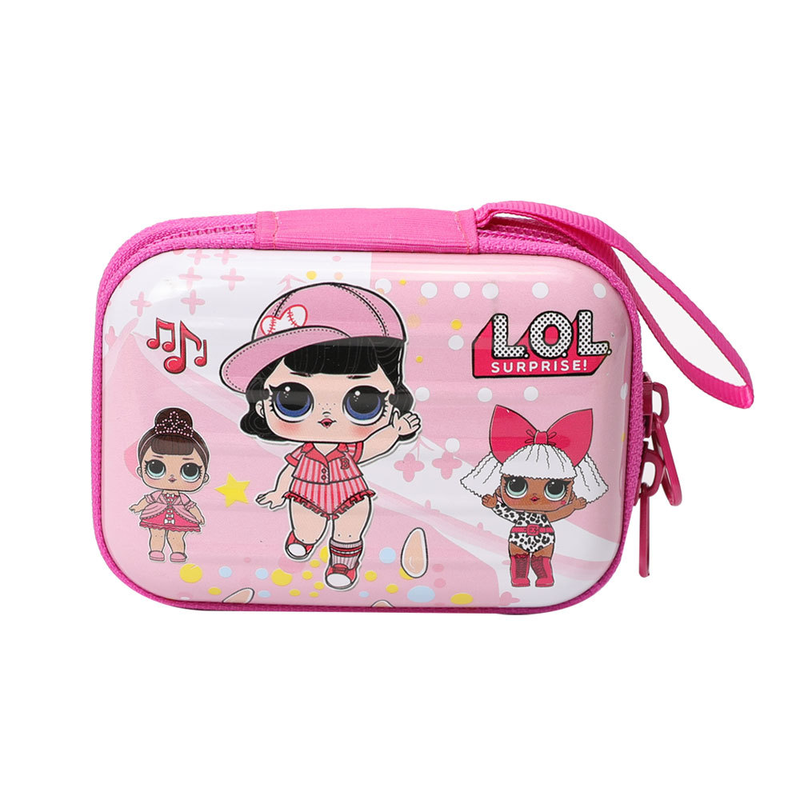 Lol Surprise Original Wallet Lol Dolls Mini Suitcase Cartoon Pattern Coin Purse Simple And Stylish Earphone Bag 10.5*7.5*4cm