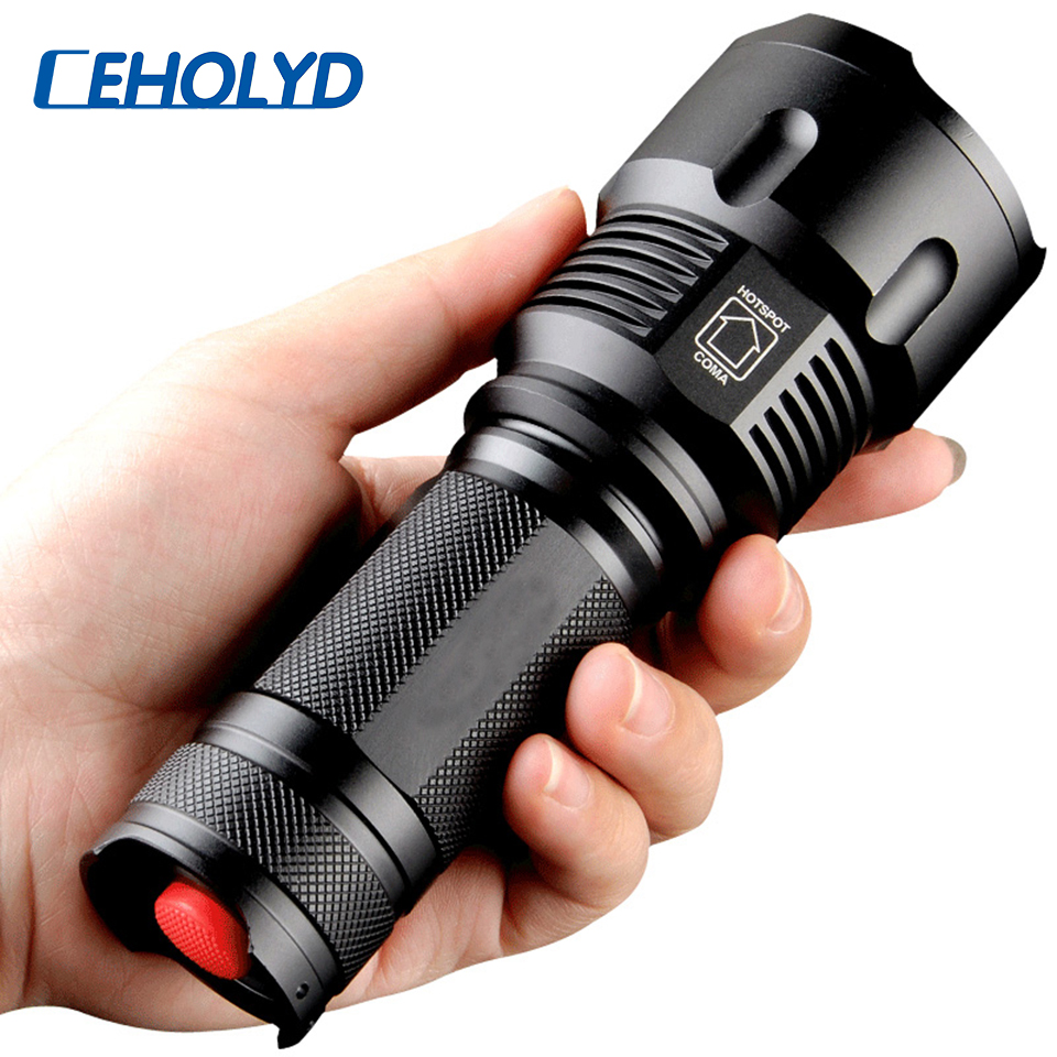Cree XHP70 XHP50 XM-L2 U3 XM-L T6 LED Flashlight Waterproof Torch Zoomable Power 26650 18650 14500 AA Rechargeable Battery Light