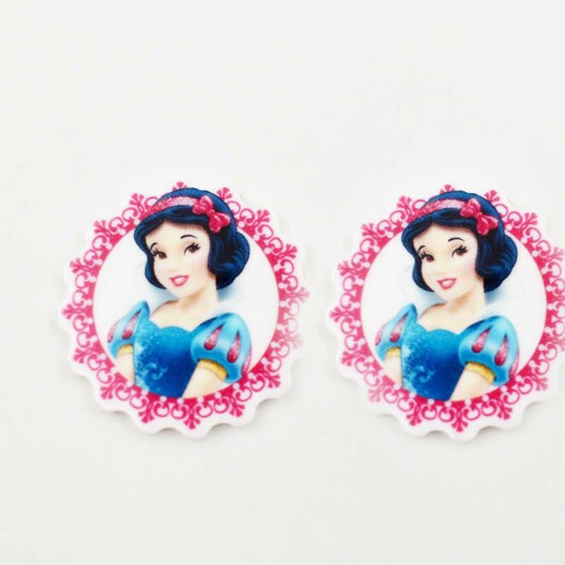 6 יח'\חבילה נסיכת הצמד כפתור תכשיטי מישוריים שרף הצמד קסמי עבור 18MM ג 'ינג' ר הצמד כפתור צמיד תכשיטים