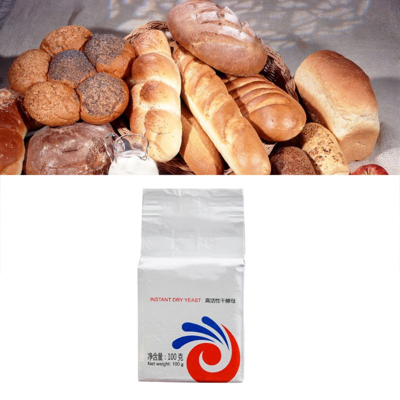 100g Highly Active Instant Dry Yeast For Bread Buns DIY Kitchen Baking Powder Supplies Household