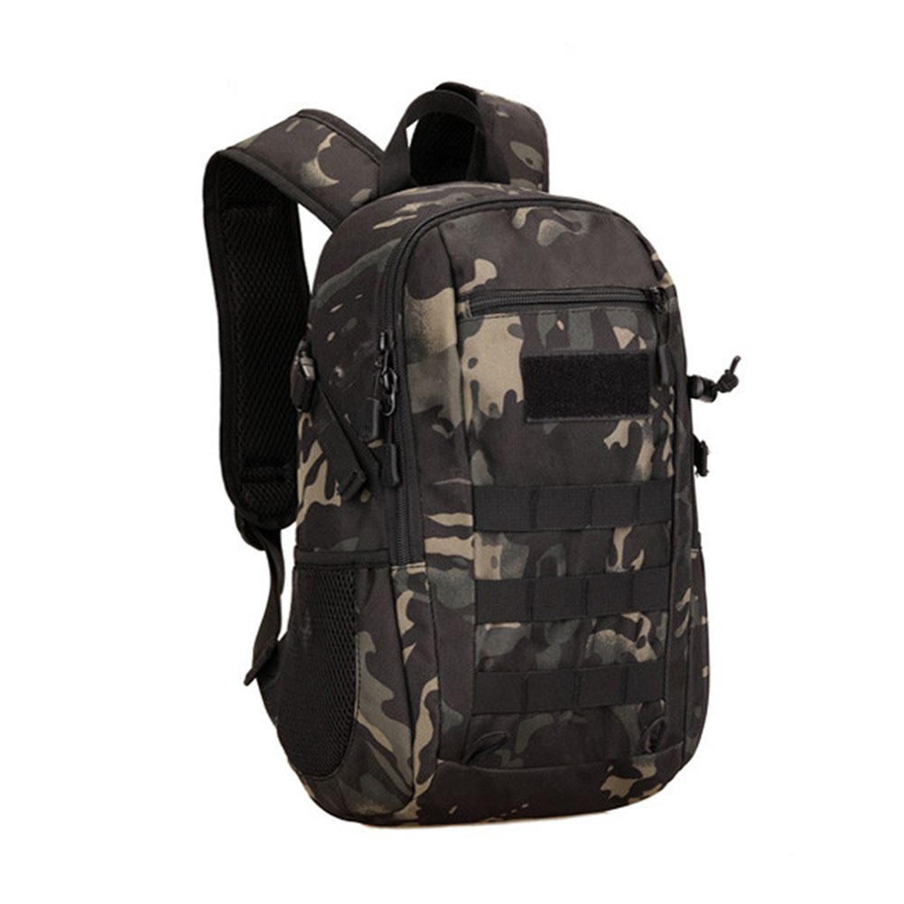 12L Schoolbag Soft Double Shoulder Camping Backpack Durable Camouflage Military Hiking Outdoor Climbing Waterproof Mini