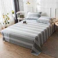 Listras cinzentas modernas folha plana define 100% algodão tecido roupa de cama conjunto de roupa de cama 120*230cm 160*230cm 180*130cm 200*230cm 230*250cm